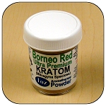 ARM013C - 1oz Jar Borneo Red Vein Ultra Premium Superfine Powder Kratom (Mitragyna speciosa)