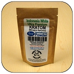 ARM014B - 1oz Eco Pack Indonesia White Vein Ultra Premium Superfine Powder Kratom (Mitragyna speciosa)