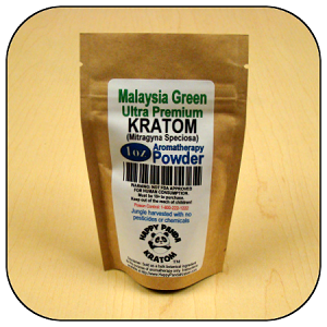 ARM012B - 1oz Eco Pack Malaysia Green Vein Ultra Premium Superfine Powder Kratom (Mitragyna speciosa)